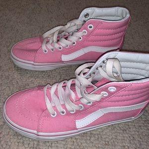 Bubblegum Pink Hightop Vans